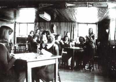 Students in the Iona Academy common room ground floor, west wing in the 1950s