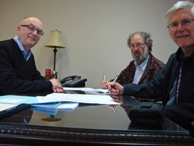Left to right: Larry Filion, Dane Lanken and Allan Macdonell