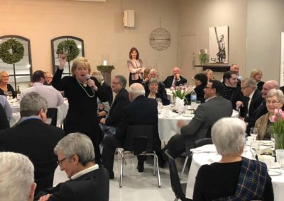 April 2108 Fundraising Gala Dinner, with Flora Dumouchel presiding at auction